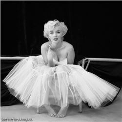 "Marilyn Monroe ""Ballerina Sitting 20"" mammoth exhibition print by Milton H. Greene."
