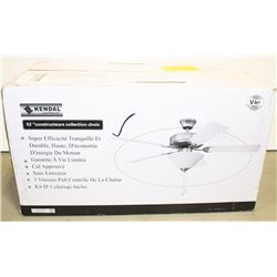 """NEW KENDAL 52'""""CEILING FAN WITH LIGHT"""