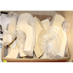 BOX OF WOOD HANDRAIL BRACKETS