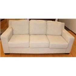 "BEIGE FABRIC SOFA 80"" X 36'"""