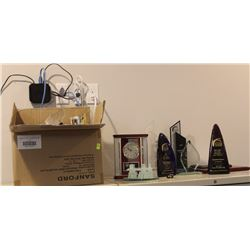 LOT OF ASSORTED PLAQUES AND AWARDS