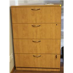 "WOODEN LATERAL FILING CABINET 36"" X 20"" X 52"""