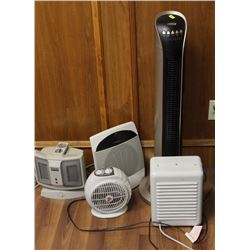 LOT OF 5 ASSORTED HEATERS
