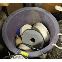 TOTE OF ASSORTED CARPET TAPE
