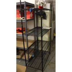 BLACK ADJUSTABLE METAL SHELVING UNIT