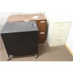 LOT OF 3 ASSORTED FILING CABINETS