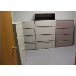 LOT OF 5 LATERAL FILING CABINETS