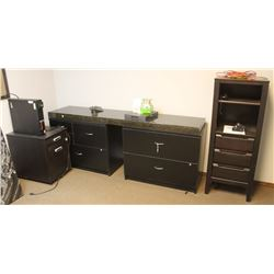 LOT OF 3 FILING CABINET AND UPRIGHT STAND