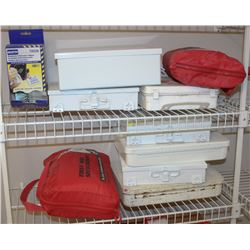 LOT OF 8 FIRST AID KITS