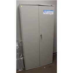 2 DOOR METAL UPRIGHT CABINET