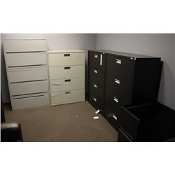 LOT OF 4 LATERAL FILING CABINETS