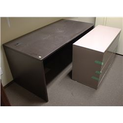 LATERAL FILING CABINET AND DESK