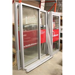 LOT OF 2 COMMERCIAL GLASS DOORS & 2 GLASS WINDOWS