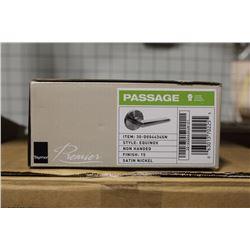NEW BOX OF 12 TAYMOR EQUINOX PASSAGE DOOR HANDLES