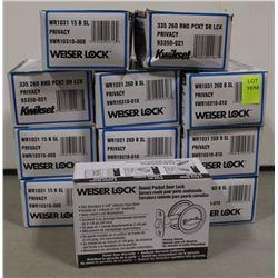 LOT OF 12 WEISER ROUND POCKET PRIVACY DOOR LOCKS