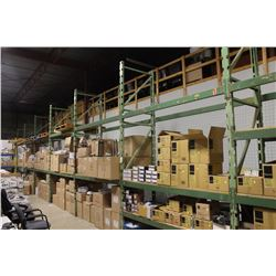 SEVEN SECTIONS OF 8' HEAVY DUTY PALLET RACKING