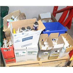 PALLET OF ASSORTED SEALERS AND ADHESIVES