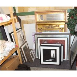 LOT OF ASSORTED SHOWHOME PICTURES AND MIRRORS