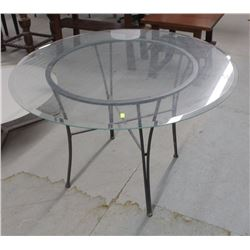 "ROUND 45"" GLASS DINING TABLE"