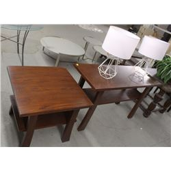 WOOD COFFEE TABLE AND END TABLE SET
