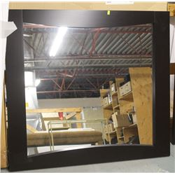 "DARK BROWN FRAMED MIRROR 45"" X 41"""