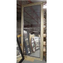 "LARGE GOLD TONE FULL BODY MIRROR 40"" X 93"""