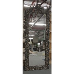 "ORNATE BRONZE FULL BODY MIRROR 34"" X 88"""