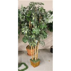 LOT OF 2 ASSORTED FAKE TREES
