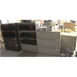 LOT OF 4 ASSORTED FILING CABINETS