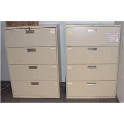 LOT OF 2 LATERAL FILING CABINETS