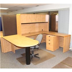 DESK CHAIR AND FILING CABINET