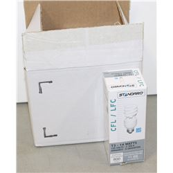 CASE OF 6 STANDARD CFL DIMMABLE 14 WATT BULBS
