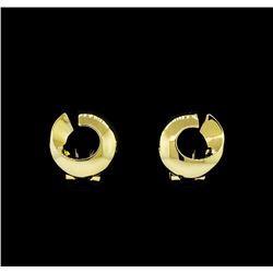 Open Circle Design Earrings - Gold Plated