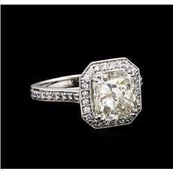 14KT White Gold 3.62 ctw I-1/M Diamond Ring