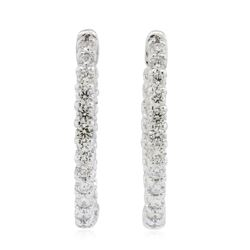 14KT White Gold 2.23 ctw Diamond Earrings