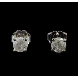 14KT White Gold 0.69 ctw Diamond Stud Earrings