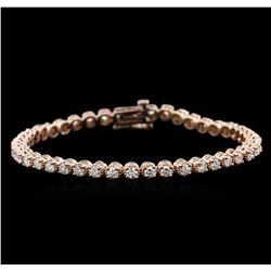 14KT Rose Gold 3.15 ctw Diamond Tennis Bracelet