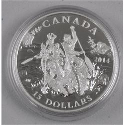 2014 $15 Exploring Canada: The Voyageurs - Pure Si