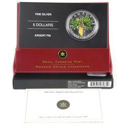 .9999 Fine Silver 1oz Maple Leaf Coloured Coin