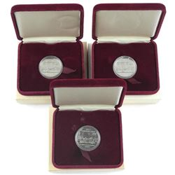 Lot (3) Cased Dollar Coin