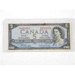 Bank of Canada 1954 - Modified Portrait Five Dolla