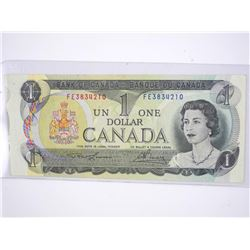 1973 1 Dollar Canada Error Note.