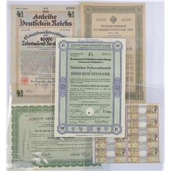 Lot (5) German/Russia Important Certificates, Bond