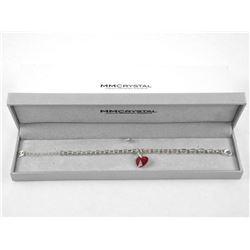 MM Designer Ruby Red Swarovski Element Bracelet.