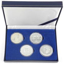 Lot (4) CAD Silver Dollars: 1963-1964-1958-1967