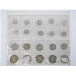 Lot (20) CAD Sterling Silver Coins Mixed