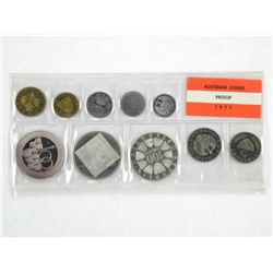 1977 Austria Coin Set with Silver