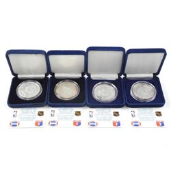 Lot (4) .999 Fine Silver Sports Coin 1oz Each