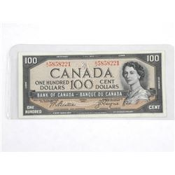 Bank of Canada 1954 - One Hundred Dollar Note. Mod