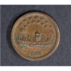 1863 USS MONITOR CIVIL WAR TOKEN